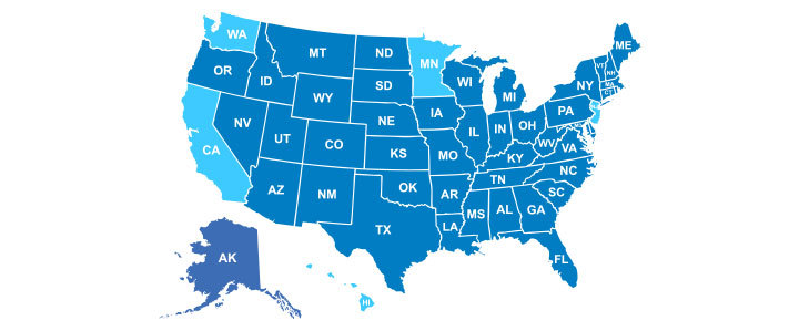 Top paying states for nurse practitioners
